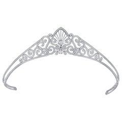 Garrard 'Charlotte Tiara' 18 Karat White Gold and White Diamond