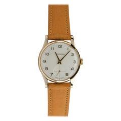 Garrard & Co. Gold Wristwatch Mint Condition Unworn with Box, circa 1988