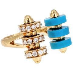 Garrard Diamond Ceramic and Gold Ring