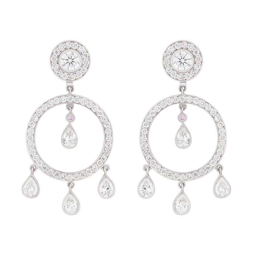 Garrard Diamond Drop and Stud Earrings