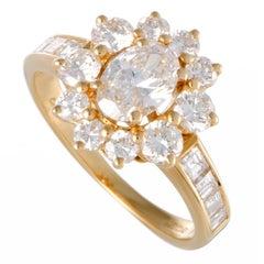 Garrard Diamond Gold Flower Cocktail Ring