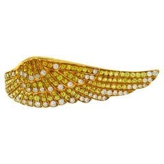 Garrard Diamond Yellow Gold Wing Ring