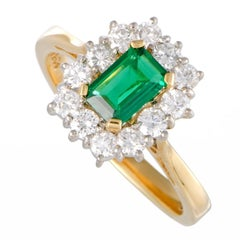 Garrard Emerald and Diamond Gold Cocktail Ring