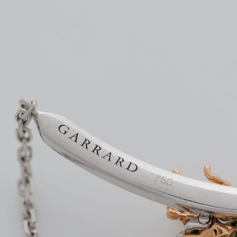 Garrard 'Enchanted Palace 18 Karat Emerald Cabachon and Diamond Bug Necklace For Sale 6