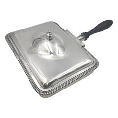 Garrard English Sterling Silver 1806 Covered Serving Dish Bowl in Georgian Style