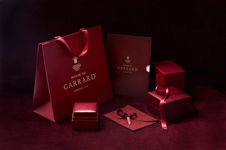 Garrard 'Harmony' Platinum Round White Diamond GIA 3.22 Karat Engagement Ring For Sale 8