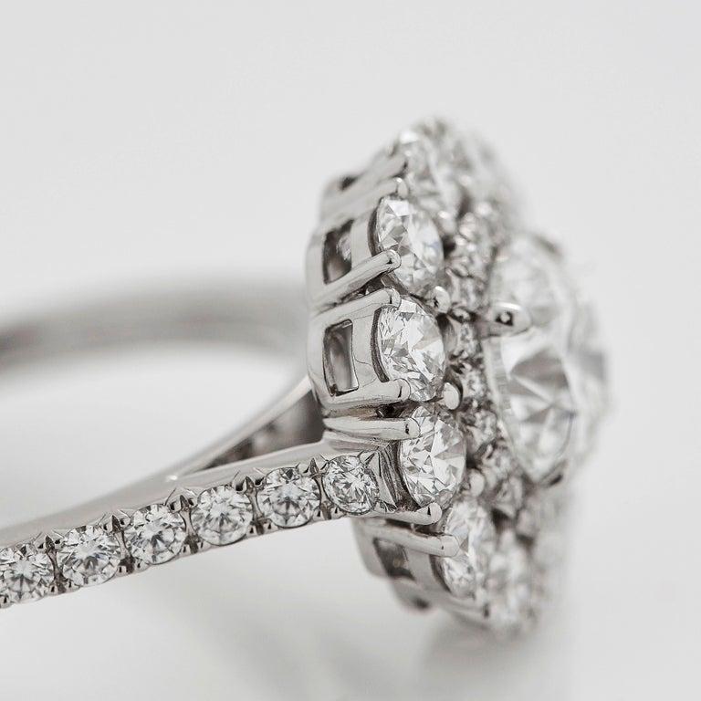 Garrard 'Harmony' Platinum Round White Diamond GIA 3.22 Karat Engagement Ring For Sale 2