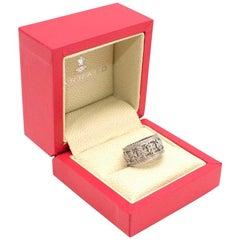 Garrard Maltese Cross Diamond Ring in White Gold - Size 6