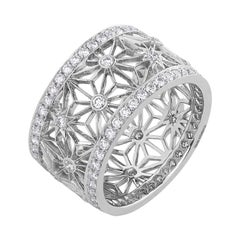 Garrard 'Muse' 18 Karat White Gold and White Diamond Filigree Ring