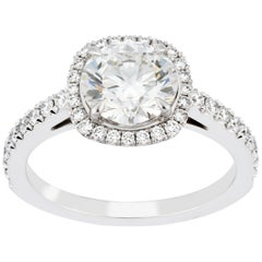 Garrard Platinum Cushion Cut White Diamond GIA 2.05 Karat Engagement Ring