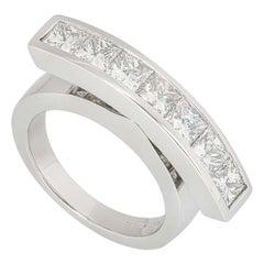 Garrard Platinum Diamond Dress Ring 1.4 Carats