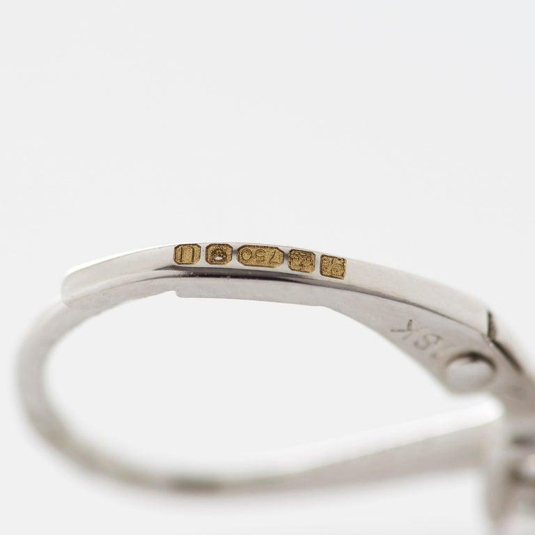 Garrard 'Regal Cascade' 18 Karat White Gold White Diamond Pink Sapphire Earrings For Sale 2