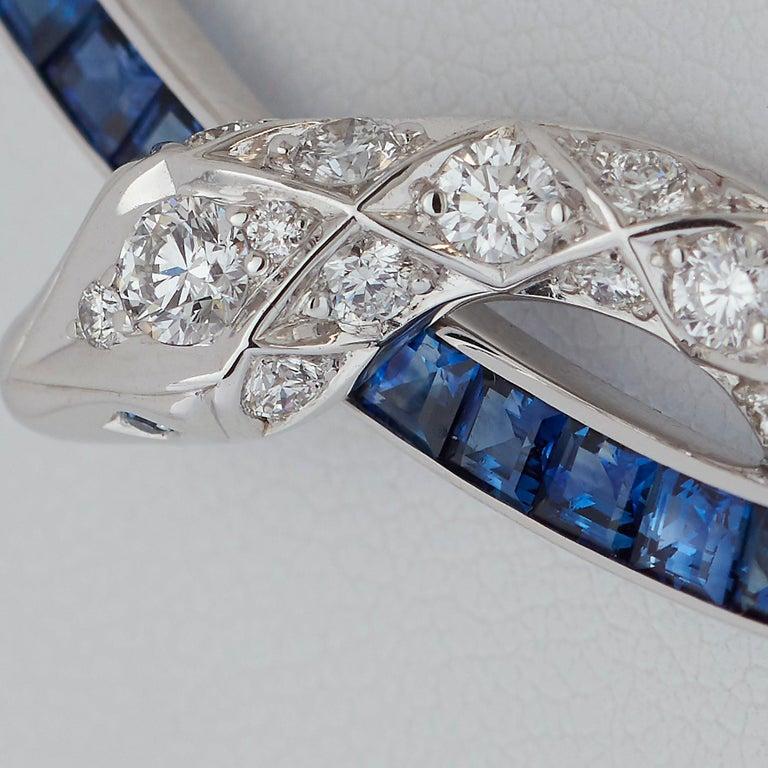 Women's Garrard Signature Serpent 'Muse' 18 Karat Blue Sapphire & Diamond Necklace