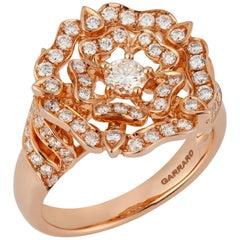 Garrard 'Tudor Rose' 18 Karat Rose Gold Diamond Cocktail Ring