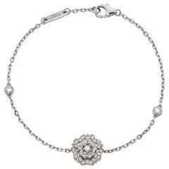 Garrard 'Tudor Rose' 18 Karat White Gold and White Diamond Bracelet