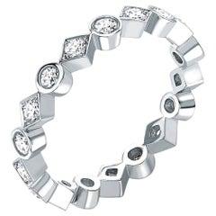Garrard 'Twenty Four' 18 Karat White Gold and White Diamond Ring