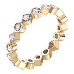 Garrard 'Twentyfour' 18 Karat Yellow Gold and White Diamond Ring