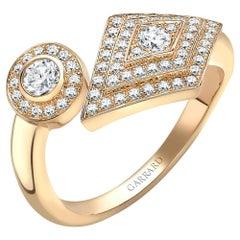 Garrard 'TwentyFour' 18 Karat Yellow Gold White Diamond Ring