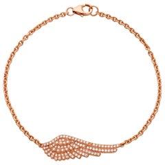 Garrard 'Wings Classic' 18 Karat Rose Gold and White Diamond Bracelet