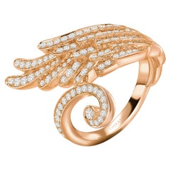 Garrard 'Wings Embrace' 18 Karat Rose Gold and White Diamond Wrapped Wing