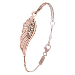 Garrard 'Wings Reflection' 18 Karat Rose Gold Diamond & Coloured Enamel Bracelet