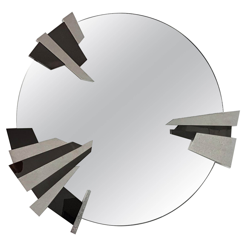 Garrido Lunar Mirror in Anthracite Nickel Finish