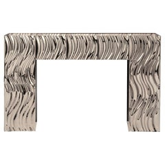 Garrido Waves Fireplace in Polished Nickel Finish