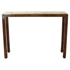 Garrison Rousseau Modern Tobacco Leaves Console Table