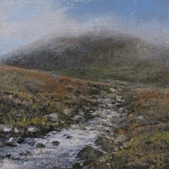 A Mountain Stream - original landscape study contemporary 21st century painting