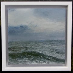 All at Sea - original seascape water nature beach painting contemporary art