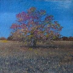 Autumn Tree Study - original landscape contemporary 21st century painting