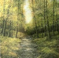 Blackbird Forest Song original  miniature painting