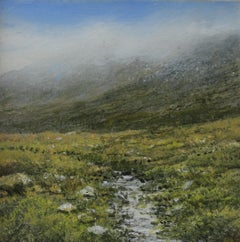 Burn - original landscape painting contemporary modern art
