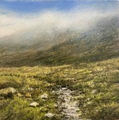 Clan Highlands original miniature landscape painting Contemporary Impressionism