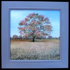 Crisp Autumn Morning - original contemporary landscape oil painting