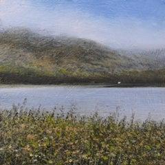 Distant Crofters Cottage - original landscape contemporary 21st century painting