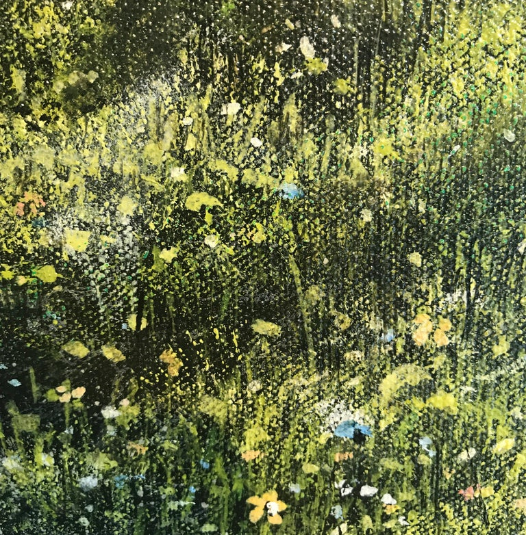 Down Chorus original Bluebells Forest landscape painting For Sale 1