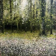 Dreamy Wood Original miniature landscape painting Contemporary Impressionism