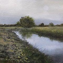 Dusk - original landscape contemporary 21st century painting
