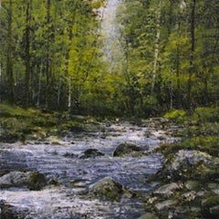 Gone Fishing - original landscape contemporary 21st century painting
