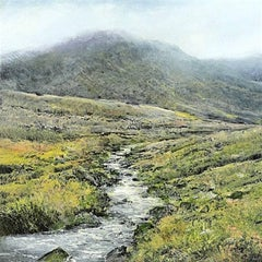 High  original miniature highland study  painting