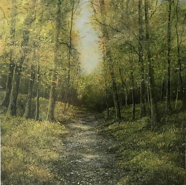Into the Trees original miniature painting