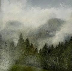 Lifting Magic Mists - original contemporary landscape oil painting