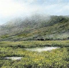 Mirrors original miniature highland study  painting