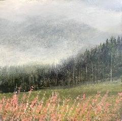 Morning Mist Original miniature landscape painting Contemporary Impressionism