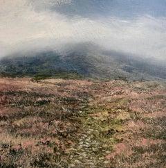 Mountain Time Original miniature landscape painting Contemporary Impressionism