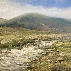 Mountain Walk  Original miniature landscape painting Contemporary Impressionism