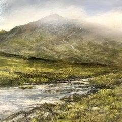 Mountain Walk3 original miniature landscape painting Contemporary Impressionism