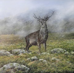 My Monarch - original contemporary wildlife landscape oil painting-Free Shipping