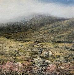 Path II original miniature landscape painting Contemporary Impressionism